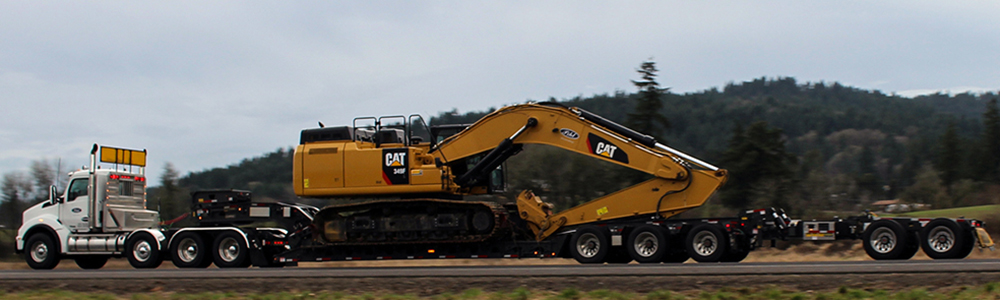 Cat 349 on low boy